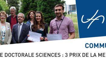 Journée doctorale Sciences : 3 prix de la meilleure présentation